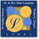 Name Doodles - Square Address Labels/Stickers (Wildwood Blue)